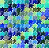 blaue Puzzle Textur