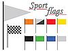 Sportliche Flaggen