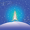 Weihnachtsbaum und Schnee | Stock Vektrografik