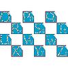 Aufkleber mit Anfangbuchstabe | Stock Vektrografik