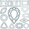 Kształtów kamienia przeciwko biały | Stock Vector Graphics