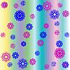 ID 3005472 | Weihnachten Hintergrund mit Schneeflocken, Blumen und Streifen | Stock Vektorgrafik | CLIPARTO