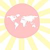ID 3005538 | Sonnige Weltkarte | Stock Vektorgrafik | CLIPARTO
