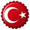 Flagge der Türkei auf Flaschenverschluss