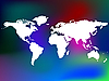 ID 3005702 | Weltkarte auf farbigem Hintergrund | Stock Vektorgrafik | CLIPARTO