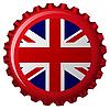 Flagge von Großbritannien auf Flaschenverschluss