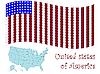Barcode-Flagge und Landkarte von USA