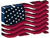 3D stilisierte amerikanische Flagge