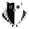 stylized owl black