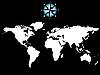 Weltkarte mit Windrose