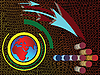 ID 3005934 | Abstrakte Komposition mit Weltkarte und Pfeile | Stock Vektorgrafik | CLIPARTO