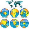 ID 3005944 | Erde-Globen und Welt-Karte | Stock Vektorgrafik | CLIPARTO