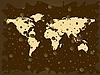 Weltkarte mit farbigen Blasen