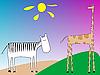 Векторный клипарт: зебра и жираф