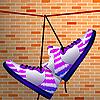 Schuhe hängen