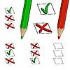 Bleistiftstriche und Checkboxen