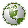 ID 3029187 | Erdkugel, Gras und Marienkäfer | Stock Vektorgrafik | CLIPARTO