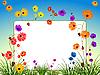 ID 3029189 | Leere Plakatwand mit Blumen und Gras | Stock Vektorgrafik | CLIPARTO