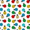 Hintergrund mit farbigen Marienkäfern | Stock Vektrografik