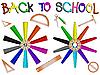 Schule und Bleistifte