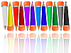 spiegelte Bleistifte mit Radiergummi