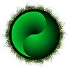 Yin Yang Kugel mit Gras