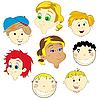 Gesichter von Kindern