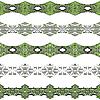 ID 3112420 | Горизонтальные бесшовные бордюры | Векторный клипарт | CLIPARTO