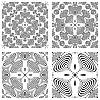 monochromatische Muster