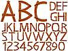 Holz-Alphabet und Zahlen