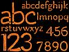 Hand gezeichnet Alphabet und Zahlen