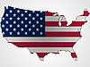 Флаг США в виде карты | Векторный клипарт