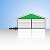 Garage mit Reflexion