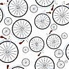 Muster von alten Fahrrädern