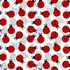 ID 3349380 | Marienkäfer als nahtlose Textur | Stock Vektorgrafik | CLIPARTO