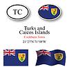 Turks und Caicos Inseln icons set