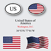 Vereinigte Staaten von Amerika icons set