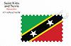 St. Kitts und Nevis Stempel Design