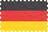 zerknittertes Papier Deutschland Stempel