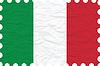 zerknittertes Papier Italien Stempel