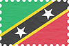 zerknittertes Papier St. Kitts und Nevis Stempel