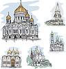 Berühmte Kirchen und Kathedralen in Mosocw, Russland