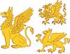 Set heraldische Greife
