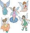 Elfos niñas | Ilustración vectorial