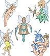 Vector clipart elves girl designs