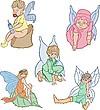 Elfos (varios) | Ilustración vectorial
