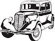 Vector clipart: Vintage auto