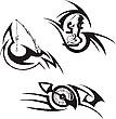 Drei Embleme