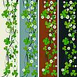 Pionowe nagłówki z St Patrick koniczyny | Stock Vector Graphics