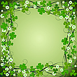 Clover frame background | Stock Vector Graphics